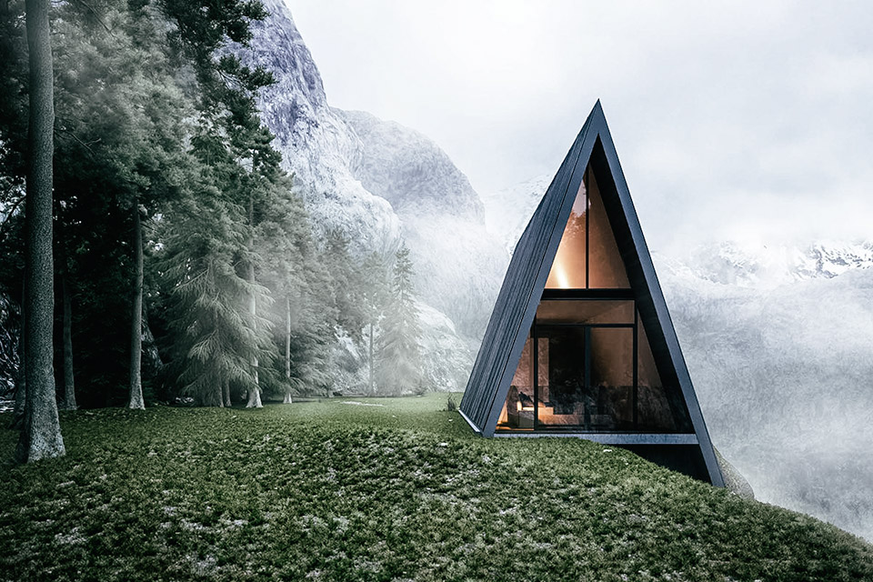 Check out the stunning a frame cliff house for A frame house